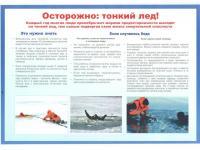 Памятки «Осторожно: тонкий лед!», «Переохлаждение».